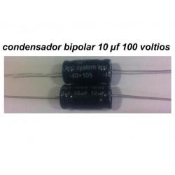 Condensador Bipolar 10 uF 100V
