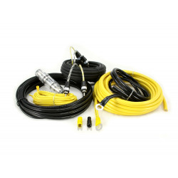 KIT CABLES 10mm 100% COBRE INSTALACION AMPLIFICADOR HOLLIWOOD PRO28