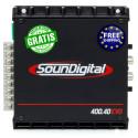 AMPLIFICADOR SOUNDIGITAL SD400.4D 4 CANALES 4X100WRMS 2OHM CLASE D