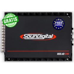 AMPLIFICADOR SOUNDIGITAL SD800.4D 4 CANALES 4X110WRMS 4OHM CLASE D