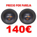"2 SUBWOOFERS 12"" BOMBER OUTDOOR 500W RMS 2OHM"