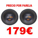 "2 SUBWOOFERS 12"" BOMBER OUTDOOR 800W RMS 2OHM"