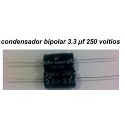Condensador Bipolar 3.3 uF 250V.