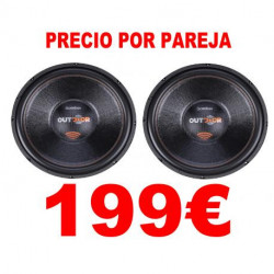"2 SUBWOOFERS 15"" BOMBER OUTDOOR 800W RMS 2OHM"