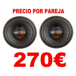 """2 SUBWOOFERS 15"""" BOMBER OUTDOOR 1200W RMS 2OHM"""